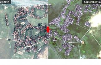 মিয়ানমারের রাখাইন অঞ্চলে ২১৪টি গ্রাম ধ্বংস